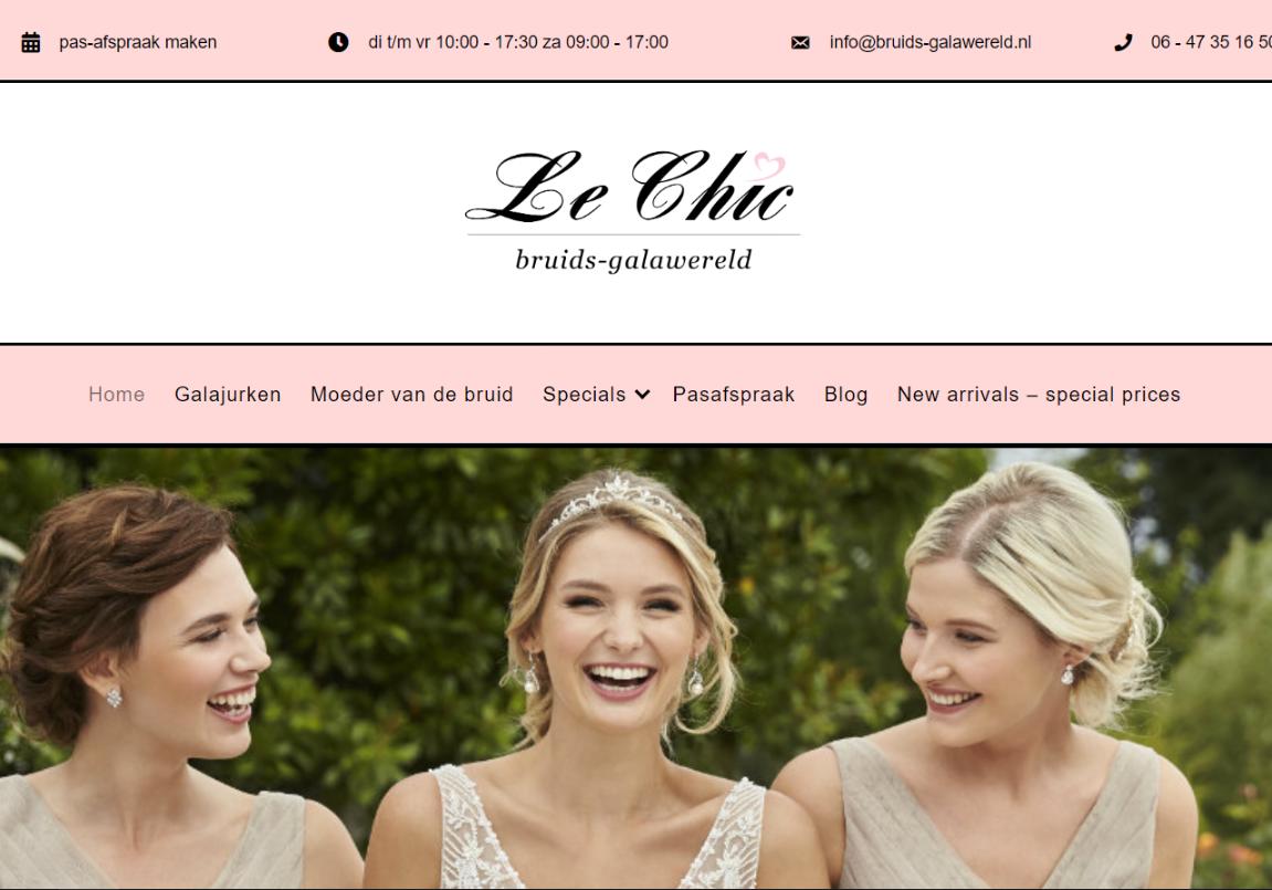 SEO resultaten bruidsgalawereld